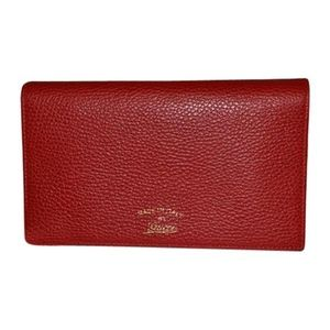 Gucci Wallet Crossbody Red Leather
